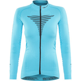 X-Bionic Effektor Power Fahrrad Trikot LS Full-Zip Damen turquoise/anthracite